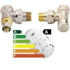 Set termostatic RAS-C2, ventil, robinet retur