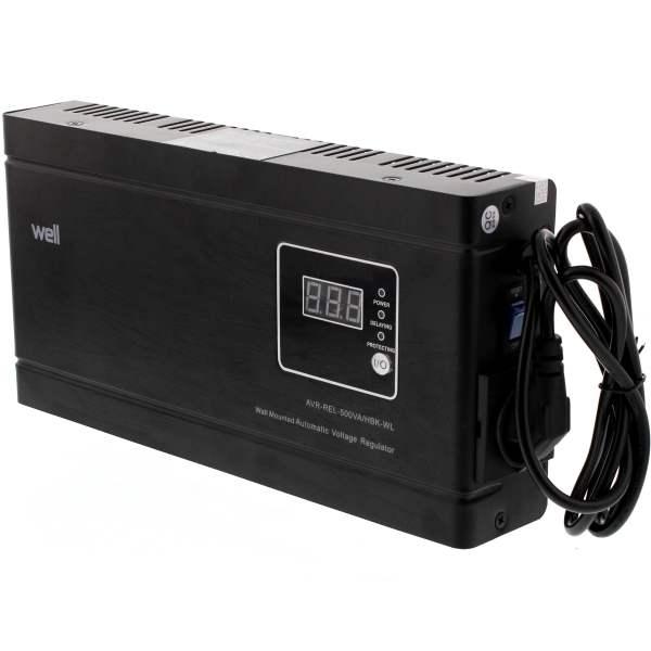 Stabilizator tensiune AVR-REL-500VA-HBK-WL
